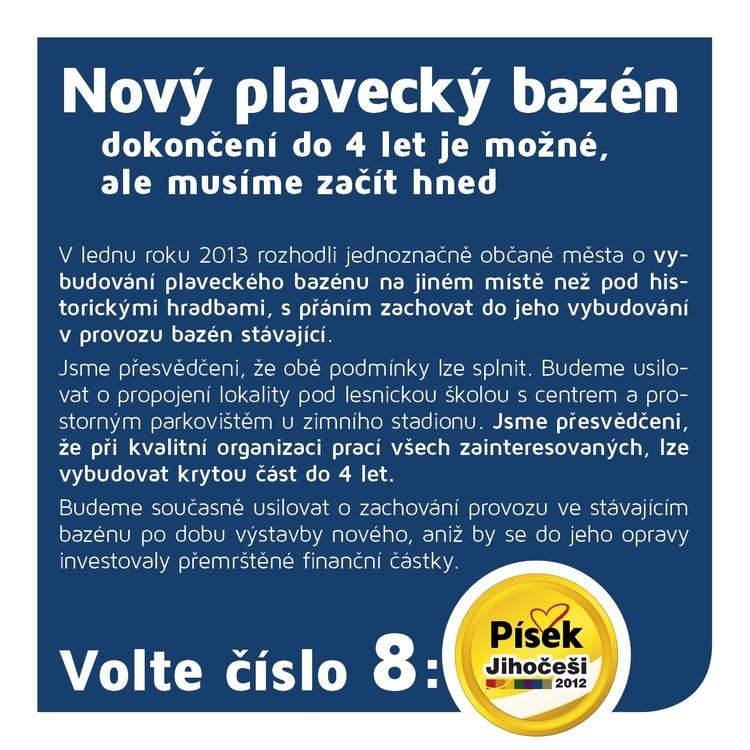 Obrázek kčlánku Nový plavecký bazén